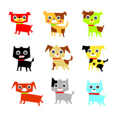 cute dog vector collection