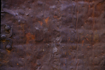 Foto op Aluminium Metal texture of rusty metal, rusty metal background, metal door detail