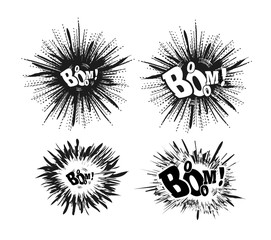 Comic speech bubble stars. Explosion