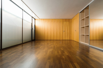 Vintage room with large wardrobes