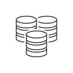 Server line icon