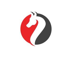 Horse head logo design template