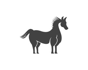 Horse logo design template