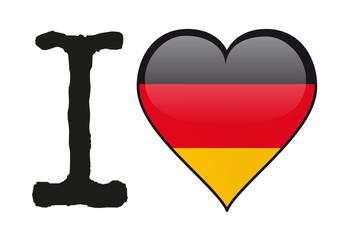Allemagne - I love Allemagne - drapeau - cœur - icône