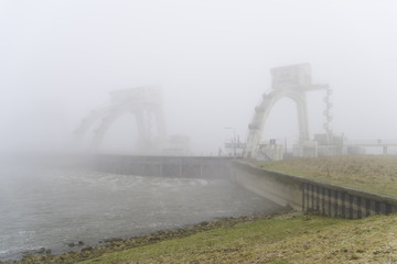 Weir in the mist