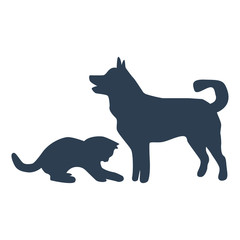 Friends Pet Icon on white background.
