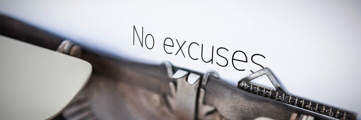 Composite image of no excuses