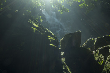 views of waterfalls in tropical rainforests in one of Malaysia's sites