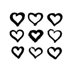 Heart grunge hand drawn