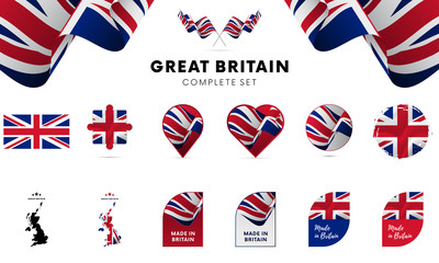 Great Britain complete set. Vector illustration. Wall mural