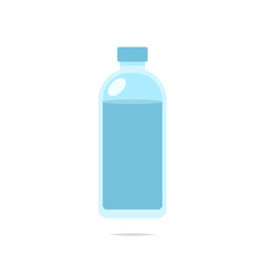 Bottle of water icon vector
