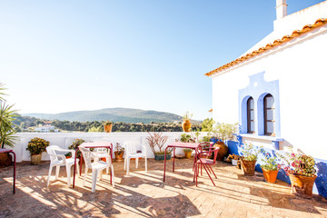 Beautiful terrace with landscape view in Alte village on the south of Portugal