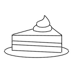 Piece of cake icon vector illustration graphic design