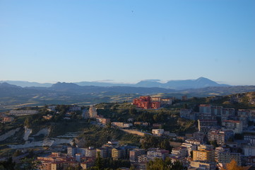 Panoramic view of Agrigento, Sicily