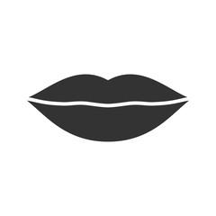 Lips glyph icon