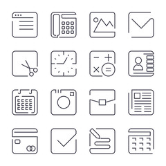 Simple Set of Office Related Vector Line Icons. Contains such Icons as Business Meeting, Workplace, Office Building, Reception Desk and more. Editable Stroke.