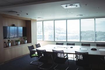 Interior of empty board room