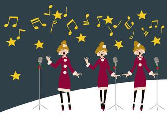 冬のイメージ。音楽。聖歌。讃美歌。クリスマスコンサート。