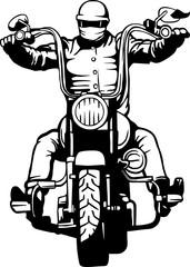 Wall Mural - biker