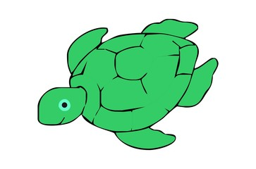 nice turtle hand drawing for kids
