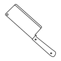 kitchen ax isolated icon vector illustration design