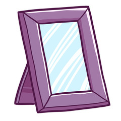 Cool and funny purple blank picture frame ready to use - vector.