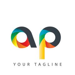 Initial Letter AP Design Logo