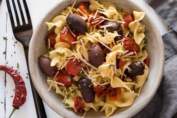 Tomato Olive Pasta Bowl