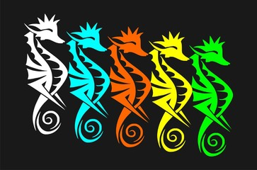 sea horse background fullcolor