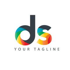 Initial Letter DS Design Logo