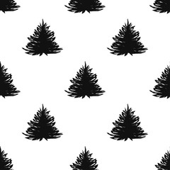abstract art vector background. Christmas tree seamless pattern illustration for wrapping paper of fabric