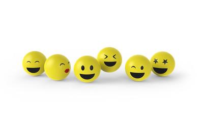 Smileygruppe hat Spaß