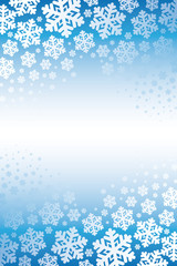 snowflakes background, blue