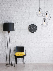 moden brick background home accessory interior style