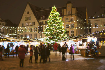 Christmas market at the Town Hall Square.