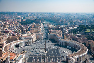View of St. Peter's Square in the Vatican