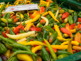 Hot pepper at market