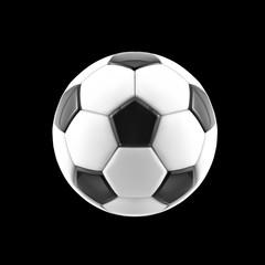 Vector soccer ball. Realistic soccer ball or football ball on black background