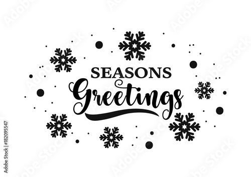 Seasons greetings calligraphy vector design stock image and seasons greetings calligraphy vector design m4hsunfo