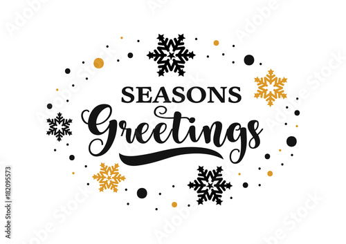Seasons greetings banner vector text for winter holiday stock seasons greetings banner vector text for winter holiday m4hsunfo