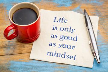 Life and mindset - inspiraitonal concept