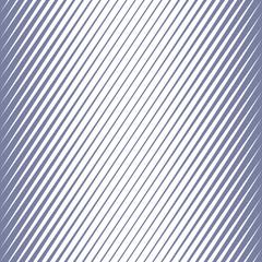 Vector geometric halftone diagonal stripes seamless pattern. Blue and white