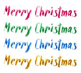 feliz navidad en acuarela