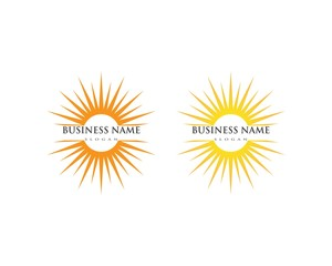 Sun logo icon template