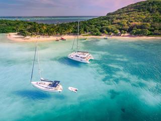 Tobago Cays, vue aérienne. Saint-Vincent et les Grenadines