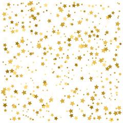golden stars are falling down. vector illustration