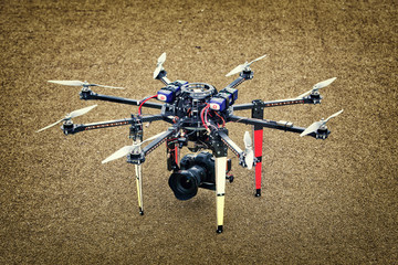 Big Carbon Drone dslr dji summer on the ground