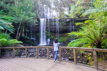 Russell Falls in Mt Field National Park near Hobart in Tasmania, Australia