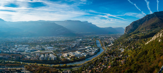 View from La Bastille in Grenoble