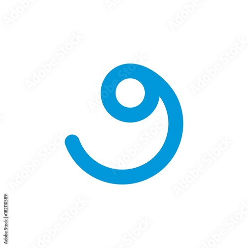 simple blue wave logo icon design concept vector illustration for rh fotolia com  wave logo clothing brand